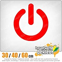 KIWISTAR - Power ON - On / Off switch 15色 - ネオン+クロム! ステッカービニールオートバイ