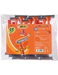 ビック BIC BIC3 3枚刃 使い捨てカミソリ シェーバー ひげそり ディスポ 15本入