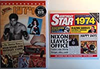 1974 Birthday Gifts Pack - 1974 DVD Film , 1974 Chart Hits CD and 1974 Birthday Card