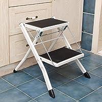 キッチン2踏み台ステップスツール椅子大人用と子供用アンチスリップラダーポータブルスモールフットスツール/踏み台/収納棚/フラワーラック (色 : 白)