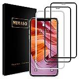 【2枚セット】Nimaso iPhoneXS Max 用 全面保護フィルム液晶強化ガラス 【ガイド枠付き】【日本製素材旭硝子製】(アイフォン xs max用)