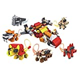 Smija 戦闘機型 合体動物ブロック 子供 おもちゃ ロボット(動物6種類入り)