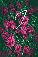 """I: cadeau de Saint Valentin, cadeau d'anniversaire   Cahier de travail large et, étudiants, filles pour le Home School College et travail pour écrire des notes, 6""""x9"""" 110 page: cadeaux d'amour"""