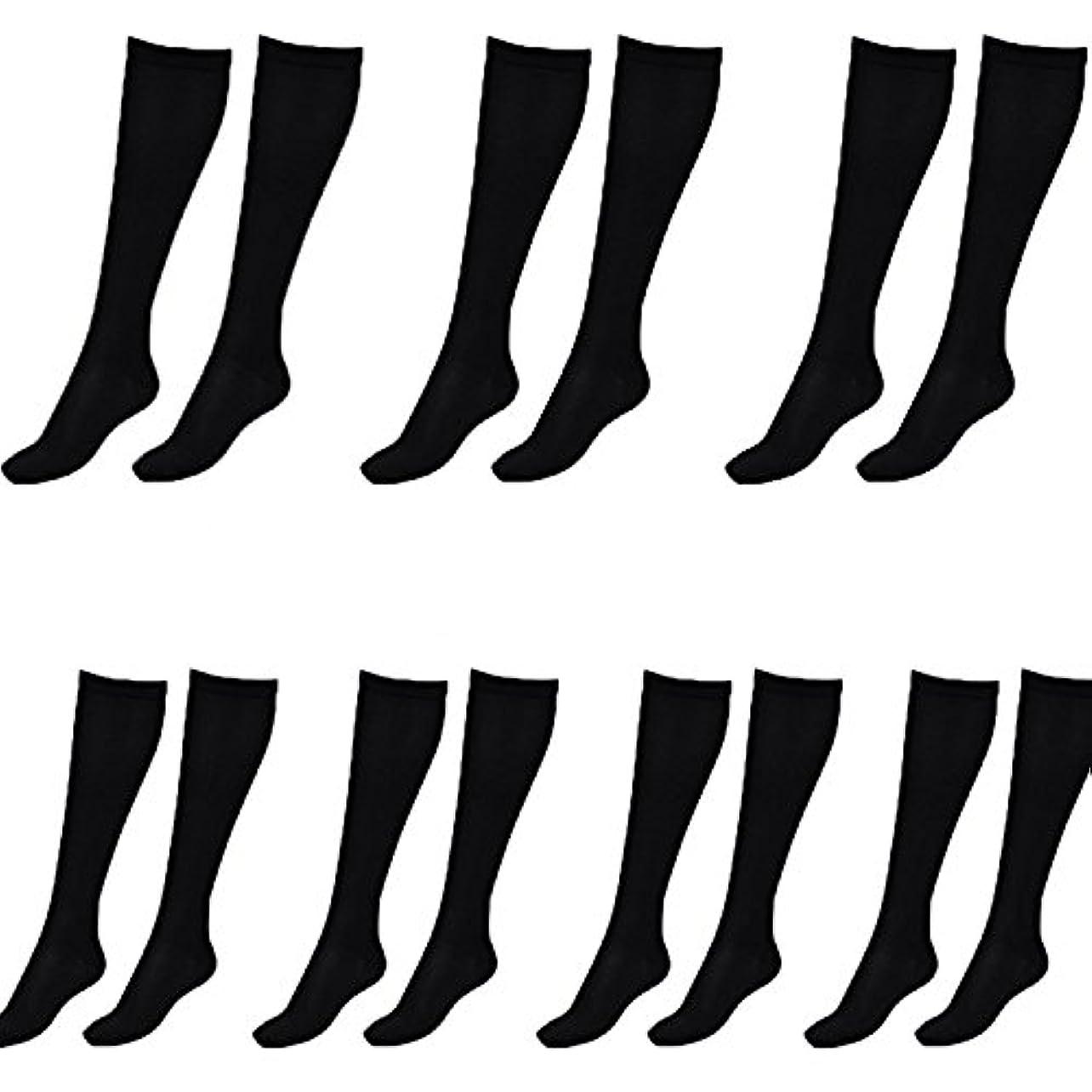 ラベンダー結婚した教会美脚X ビキャックス 強圧補正ソックス レディース 7足セット 着圧 ソックス 引き締め 伸縮 靴下