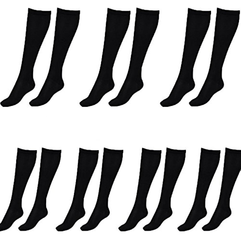 中絶セブンやがて美脚X ビキャックス 強圧補正ソックス レディース 7足セット 着圧 ソックス 引き締め 伸縮 靴下