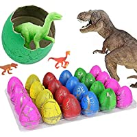 blu7ive Hatch and GrowイースターDinosaur Eggs – NoveltyハッチングToy for Kids 12 Packs 4328206431