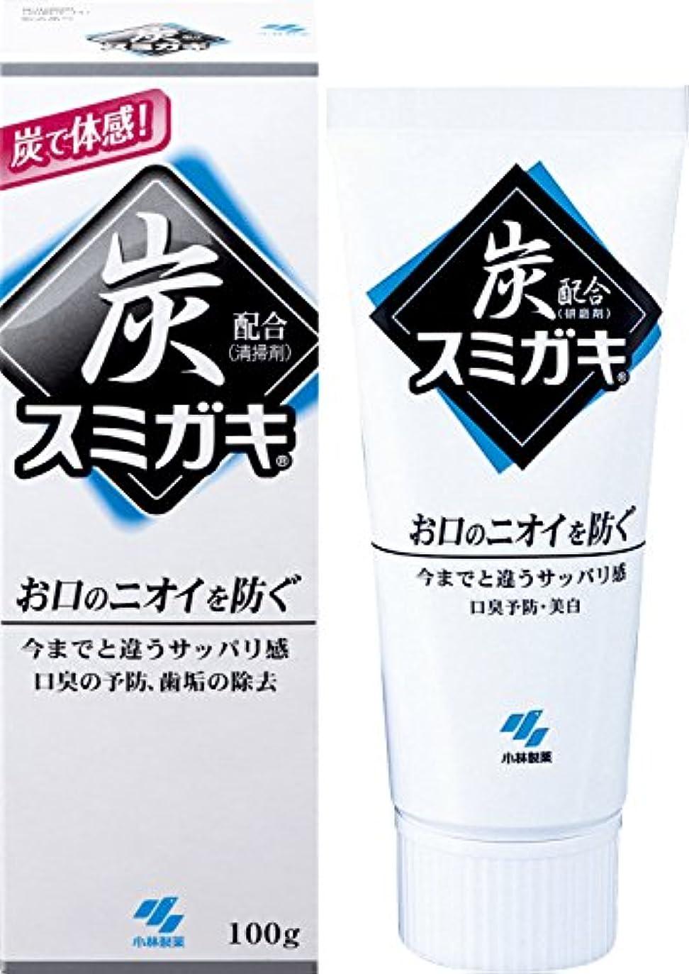喉頭ふくろう裁量スミガキ 炭配合(清掃剤) 口臭予防 歯みがき ハーブミントの香り 100g