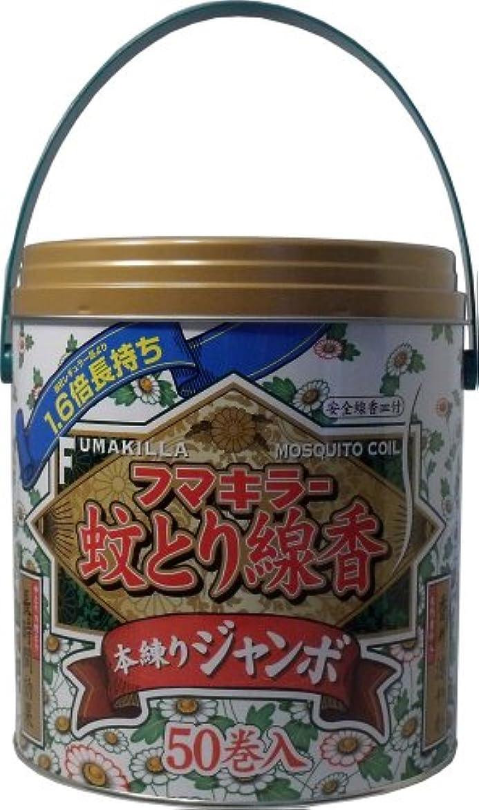 気晴らし褒賞安定したフマキラー蚊とり線香 本練リ ジャンボ 50巻缶入 (線香皿付)【3個セット】