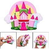 ボコダダ(Vocodada)低反発おもちゃ 減圧玩具 柔らかい おもちゃ 握り玩具 子供 大人 プレゼント 減圧 遊ぶ おとぎ話 童話 物語 お城 装飾 飾り コレクション 携帯ストラップ スローリバウンド かわいい 優しい 癒せる 16x11x4cm