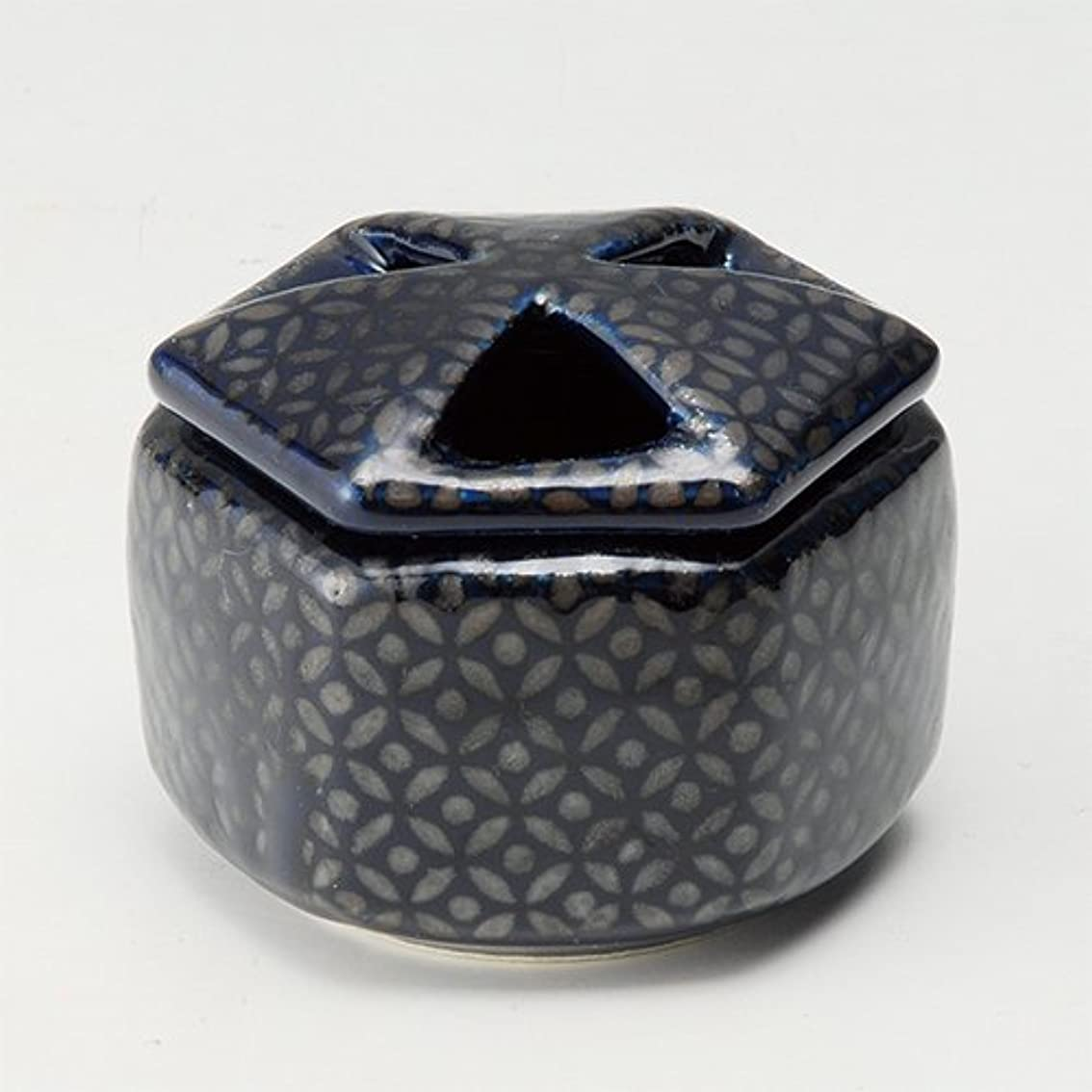かなりタオル思いやり香炉 瑠璃七宝 六角香炉 [R8.8xH6.5cm] プレゼント ギフト 和食器 かわいい インテリア