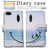 HONEY(セレクトショップ)スマイルにこちゃん手帳型スカイ柄 iPhoneケース 5/5s/6/6s/6plus/7/7plus iphoneケース 海 サーフ ナルーNALUハワイ アロハ SEA ocean HONEYBEACHCLUB スマホケースsmileskydairy