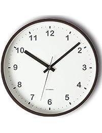 KATOMOKU plywood wall clock ブラウン スイープ(連続秒針) km-35M φ252mm