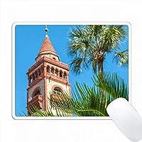アメリカ、フロリダ、セントオーガスティン、ホテルポンセデレオン、フラッグラーカレッジ。 PC Mouse Pad パソコン マウスパッド