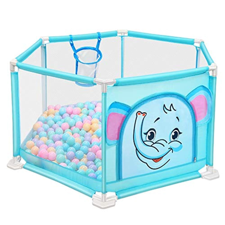 子供の遊びフェンスの幼児の安全フェンス屋内の遊び場の赤ちゃんのクロールマットの幼児 (Color : Blue, Size : 140 * 66cm)