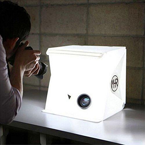 撮影ボックス 小型 22.6*23*24 cm 撮影キット 簡易スタジオ 組み立て式 設置簡単 LEDライト搭載 撮影用照明 折り畳み 携帯型 写真 照明 ライトボックス バックスクリーン2枚 背景スタンド USB給電 コンパクト 収納便利