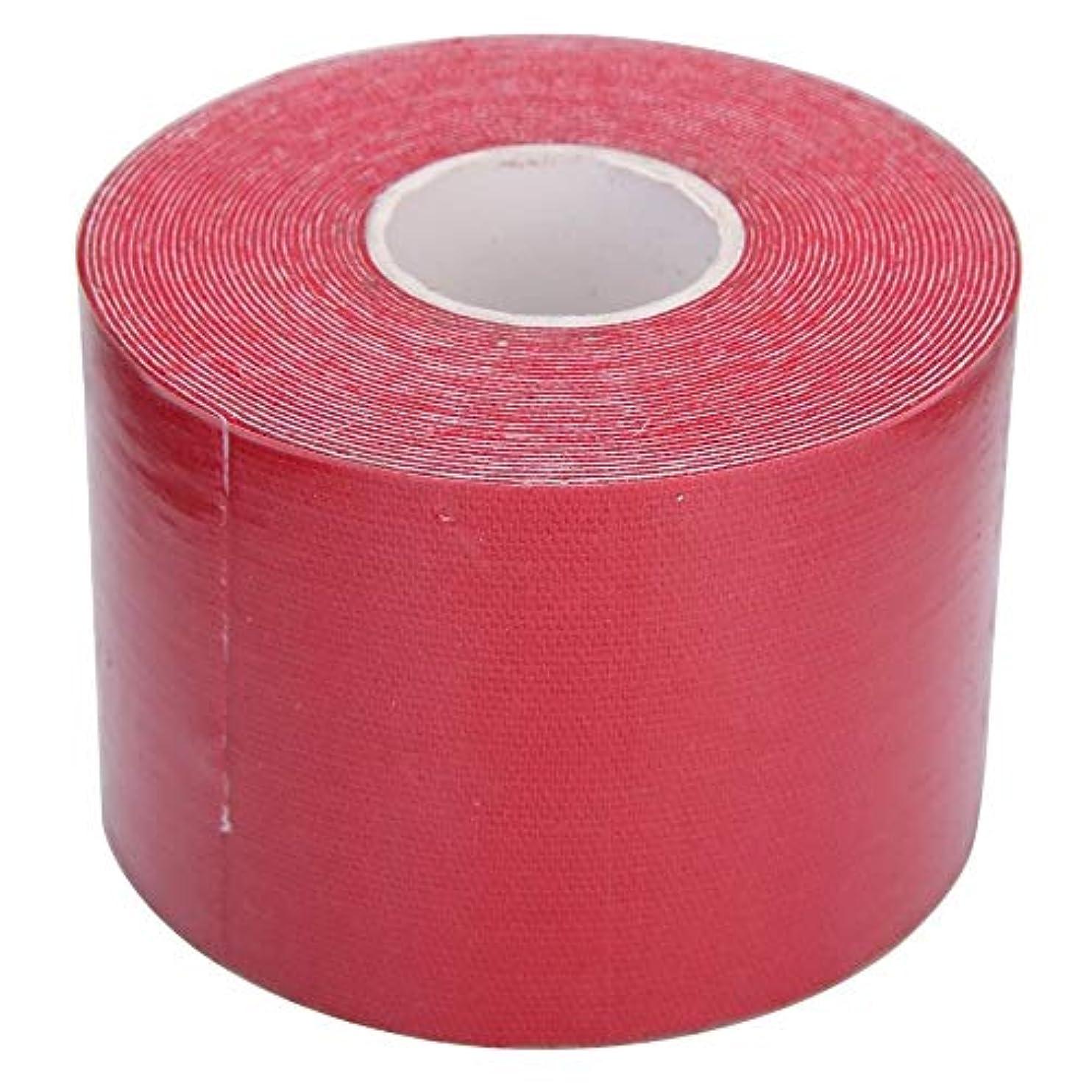 テントエクスタシーアリキネシオロジー テープ アスリート 筋肉のサポート スポーツ フィジオ 治療テープ レッド