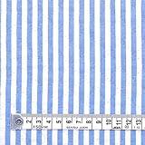 ベーシックストライプ・青(綿ポリ) キルティング生地 ハンドメイド 手作り用生地 0.5m単位でご注文いただけます。 T0104S00