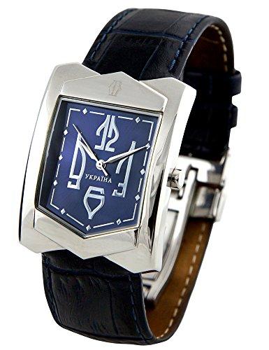 Kleynodメンズウクライナ刺繍20–506ステンレススチールホワイト日付クォーツ時計