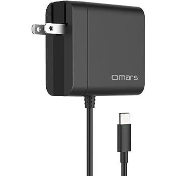 Omars USB C急速充電器「PSE認証済」45W PD3.0 急速充電対応 Type‐Cケーブル搭載 折畳式プラグUSB C チャージャー ACアダプターNintendo Switch MacBook MacBook Pro MateBook Google Pixel 2 Pixel Pixel XL Galaxy S9 S9+ Note 8 S8 S8+ 等に対応 (45W)