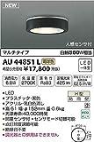 KOIZUMI(コイズミ照明) 【工事必要】 アウトドアライト LED薄型軒下シーリング 【白熱球60W相当】 人感センサ付・マルチタイプ AU44851L