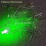 200PCS / Lot 3mmラウンドグリーンLEDダイオード超高輝度水クリアLEDライトランプ緑色新しい