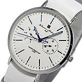 サルバトーレ マーラ クオーツ ユニセックス 腕時計 SM15117-SSWHBL ホワイト