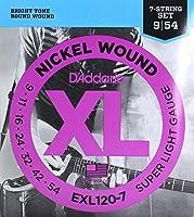 D'Addario EXL120-7 7弦エレキギター弦×5SET