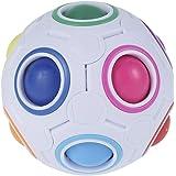 Fidget Ball Magic Colorful Ball Rainbow Puzzle Ball Creative Magic Cube Ball Colorful Jigsaw Ball Antistress Ball Brain Tease
