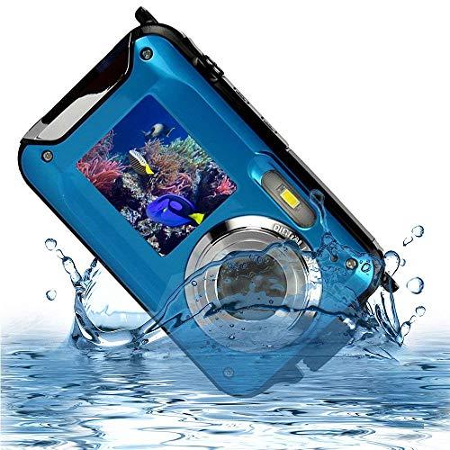 防水カメラ デジタルカメラ YISENCEフルHD 1080P  24.0MPデュアルスクリーン オートフォーカス デジカメ