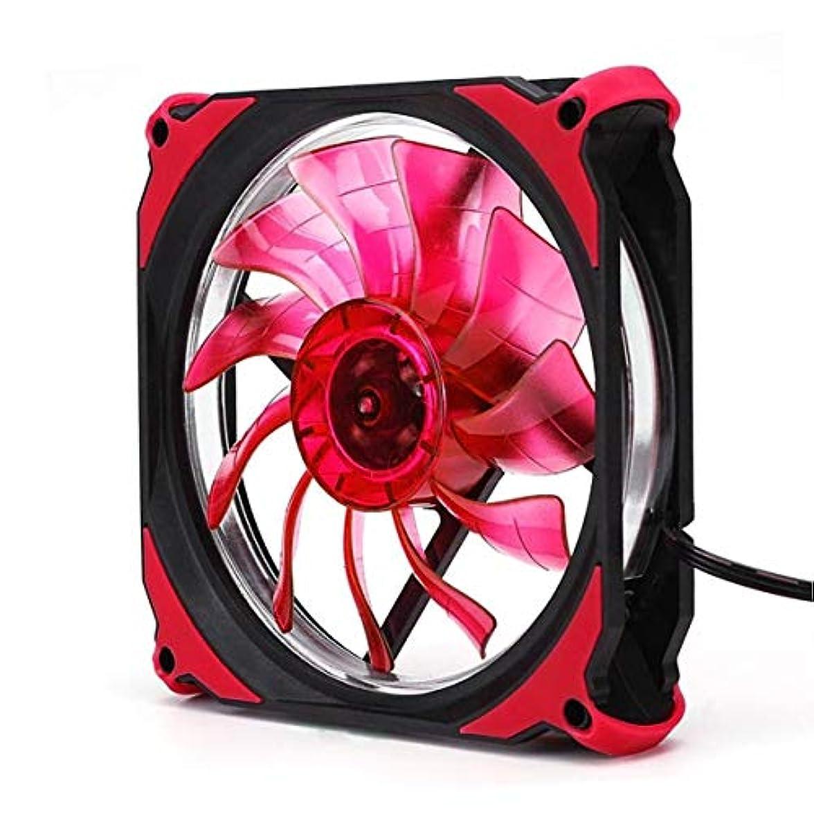 日検出するペインギリックEclipse 120mm LED冷却クーラーデスクトップコンピューターケースファン低騒音冷却ファンデスクトップコンピューター用サイレントファン-赤