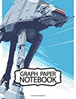 Notebook: American Epic Space Star Wars Science Fiction Adventure Fictional Universe Humans And Aliens Lightsaber And Blaster, Soft Glossy Graph Paper, Boys Kids Elementary One Object Paper 110 Pages 8.5 x 11 Inches