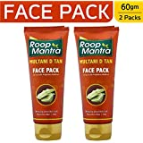Roop Mantra Multani D Tan Face Pack, 60g (Pack of 2)