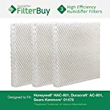 Honeywell HAC-801, Duracraft AC-801, Sears Kenmore 01478 Replacement Humidifier Wick Filters. Pack of 3 Filters. Designed by FilterBuy. by FilterBuy