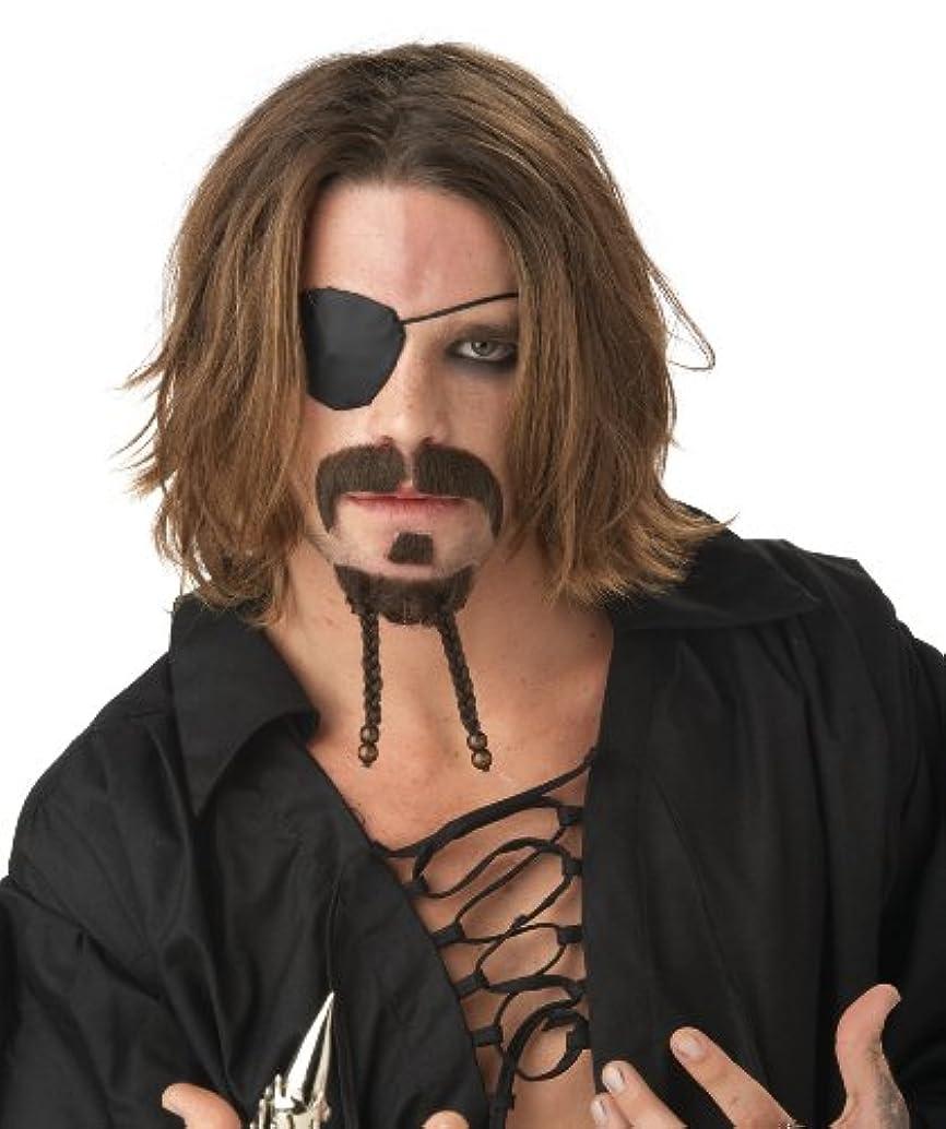 執着存在ストッキングCalifornia Costume Collections 70449CC Rogue Moustache and Chin Patch