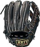 ZETT(ゼット) 硬式野球 グラブ (グローブ) プロステイタス セカンド・ショート用 右投げ用 ブラック (1900) サイズ:3 日本製 専用グラブ袋付き BPROG361