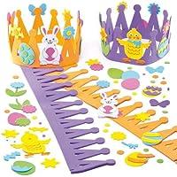 イースターバニー、ひよこ スポンジ 王冠 (2個入り) 子どもたちのアクティビティに