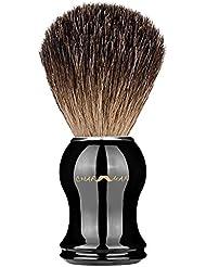 charmmanクラッシク100%アナグマ毛シェービングブラシ ハンドメイド ギフト包装