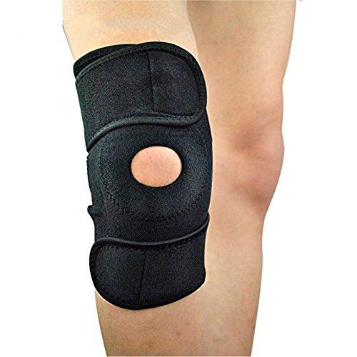 MAZU(一点)らくらく膝サポーター スポーツサポーター 膝固定 関節靭帯保護 フリーサイズ 左右兼用 怪我防止 登山 ランニング バスケ アウトドアスポーツ(ブラック)