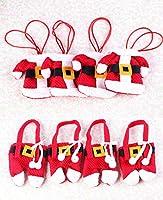 クリスマス食器カバー 8点セット フォークナイフ 食器バッグ サンタカトラリー カバー テーブル飾り/パーティー 飾り/ホーム 装飾【Vivaストアー】