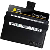 FIDELO Slim Wallets for Men - Minimalist RFID Blocking Credit Card Holder - Lightweight Front Pocket Mens wallet with money clip - Full Grain Genuine Leather