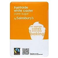 (Sainsbury's (セインズベリー)) フェアトレード白キャスター砂糖1キロ (x2) - Sainsbury's Fairtrade White Caster Sugar 1kg (Pack of 2) [並行輸入品]