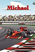 "Michael: Racecar Blank Comic Book Notebook Journal book 120 pages 6""x9"""