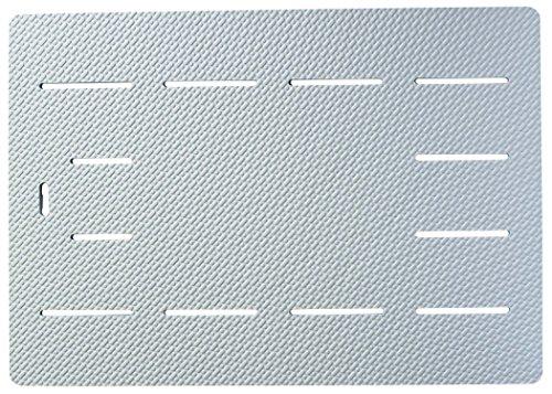 EVA樹脂製 ソフトタイプ 風呂マット シルキー ラバーマット ブルー