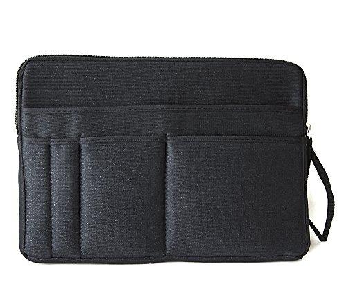 バッグの中を整理整頓 バッグインバッグ 黒 A4 インナーバッ...