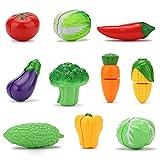 VFunix ままごと キッチン 野菜 14点セット 子ども用 まな板 包丁付き きれる食材 調理ごっこ
