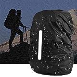 VINTONEY リュックカバー 登山用レインカバー 撥水 軽量 夜光反射 雨よけ 収納袋付き ザックカバー 防水 3サイズ 落下防止 釣り ドライバッグ 通勤通学 登山旅行用