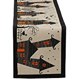 DII Halloween Table Runner 14 x 72, Haunted House