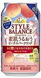 【期間限定】アサヒスタイルバランス素肌うるおうピーチスパークリング缶 350ml×24本