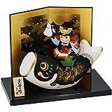室内 鯉のぼり 陶器 錦彩鯉のぼり大将 菖蒲ポストカード特典付オリジナル五月人形 こいのぼり 幅15cm