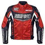 シンプソン(SIMPSON) バイクジャケット ウォータープルーフナイロンジャケット レッド 4L SJ-7112